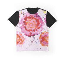Pink Floral Burst Graphic T-Shirt