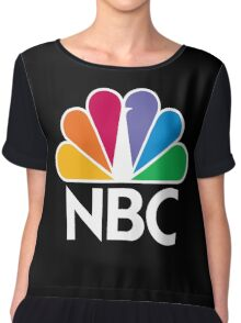 NBC Logo - White Chiffon Top
