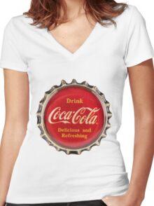 Bottle Cap Women's Fitted V-Neck T-Shirt
