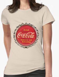 Bottle Cap Womens Fitted T-Shirt