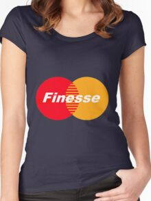 Finesse (Larger Design) Women's Fitted Scoop T-Shirt