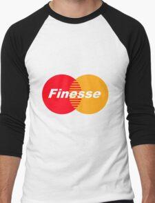 Finesse (Larger Design) Men's Baseball ¾ T-Shirt