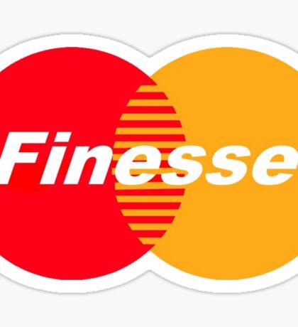 Finesse (Larger Design) Sticker