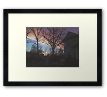 7:00, the Sky's Gold Framed Print