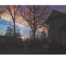 7:00, the Sky's Gold Photographic Print