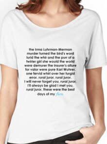 Rural Juror Lyrics Women's Relaxed Fit T-Shirt