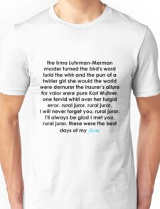 Rural Juror Lyrics Unisex T-Shirt