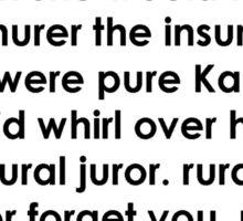 Rural Juror Lyrics Sticker