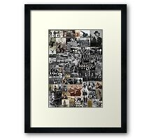 Weird Old-time Music Collage Framed Print