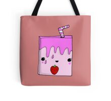 Kawaii Cute Strawberry Milk Carton Adorable  Tote Bag