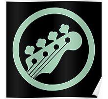 Bass guitar green Poster