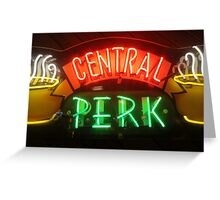 'Friends' Central Perk Sign Greeting Card