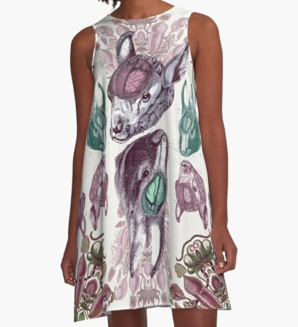 lamb brains and carnivourous plants square A-Line Dress