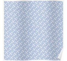 Blue Beaded Pattern Poster