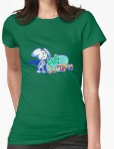 """Dogs and Tony Harl """"Dog Cartoon"""" Design Womens Fitted T-Shirt"""