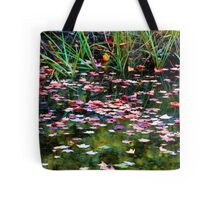 Floating Leaves on a Fall Day Tote Bag