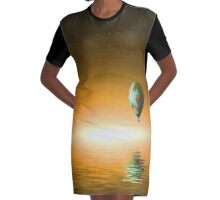 Paradox Adventure In Flight Graphic T-Shirt Dress