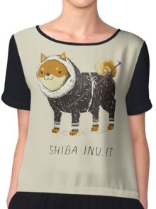 shiba inu-it Chiffon Top