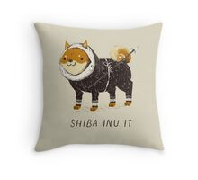 shiba inu-it Throw Pillow