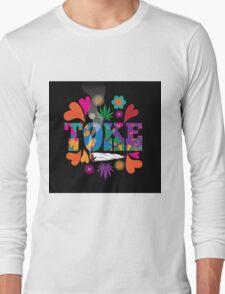 Sixties style mod pop art psychedelic colorful Toke marijuana design Long Sleeve T-Shirt