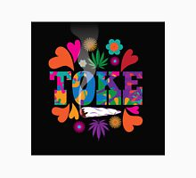 Sixties style mod pop art psychedelic colorful Toke marijuana design Unisex T-Shirt