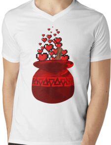 Red Potion Hearts w/o Cartridge Mens V-Neck T-Shirt