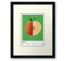 Apple (green) - Natural History Fruits Framed Print