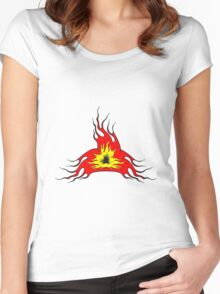 Feuer flamme kunst  Women's Fitted Scoop T-Shirt
