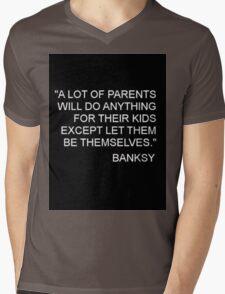 Banksy Quote Mens V-Neck T-Shirt