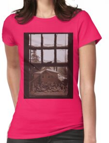 9:04, Waking up to snow Womens Fitted T-Shirt