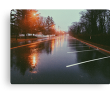 7:42, Walked out of a forest to find rain Canvas Print