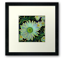 Dragonfly Flowers Framed Print