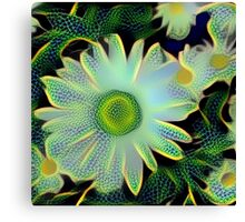 Dragonfly Flowers Canvas Print