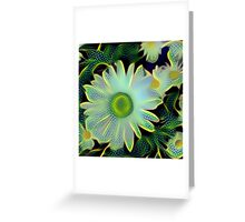 Dragonfly Flowers Greeting Card