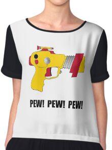 Laser Gun Pew Chiffon Top