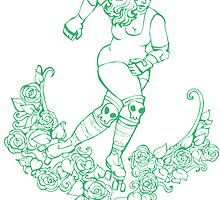 Roses 'n' Roller Girl by delcore