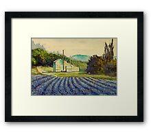 Lavender distillery near Sault and Aurel, Provence France Framed Print