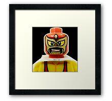 Lego Wrestler Master Buikder Framed Print