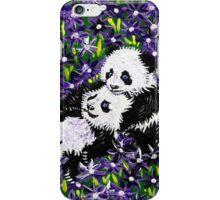 Panda Cubs in Purple iPhone Case/Skin