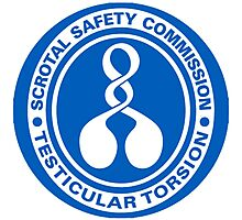 Scrotal Safety Commission Testicular Torsion Photographic Print