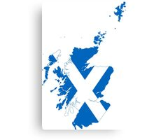 Flag Map of Scotland  Canvas Print