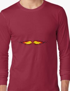 Feuer flamme feuerball agro kollision  Long Sleeve T-Shirt