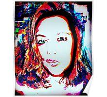 double exposure pop art selfie (by request)  Poster