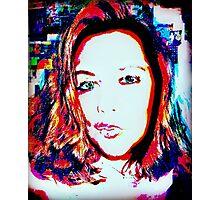 double exposure pop art selfie (by request)  Photographic Print