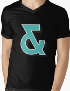 Ampersand + Mens V-Neck T-Shirt