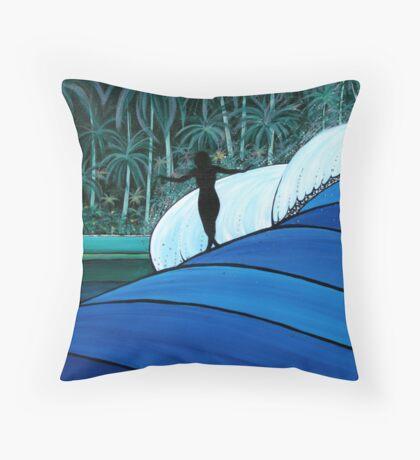 Gide Girl In Paradise Throw Pillow