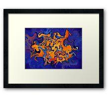 Delissonus V1 - digital abstract Framed Print