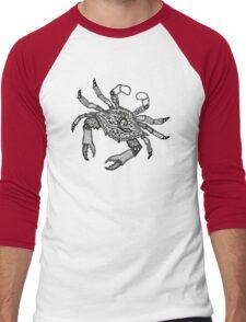 Fall Crab Men's Baseball ¾ T-Shirt