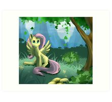 Flutters under a Tree Art Print
