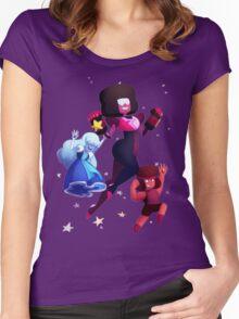 Garnet - Steven Universe Fanart, Sapphire, Ruby, Fusion Women's Fitted Scoop T-Shirt